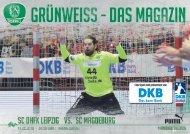 Grünweiss - Spieltags-Magazin SC DHfK Leipzig vs. SC Magedeburg