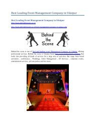 Best Leading Event Management Company in Udaipur