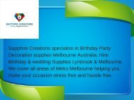 Birthday Party Decorations Melbourne