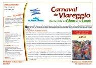 VIAREGGIO - BTP VACANCES - FEVRIER 2019 - Dépliant commercialisation