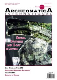 Archeomatica International 2017