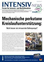01 Mechanische perkutane Kreislaufunterstützung beim kardiogenen Schock