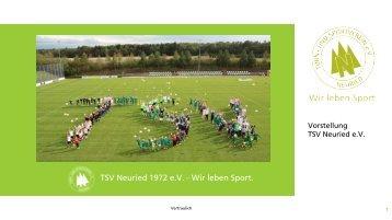 Präsentation TSV Sponsoring