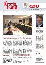 Newsletter Ausgabe 1 2012 NEU - CDU im Rhein-Kreis Neuss
