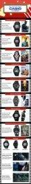Casio Watches Infographic