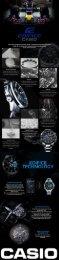 Casio Edifice Watches Infographic