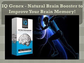 IQ Genex - Boost IQ and Concentration Level Naturally