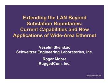 Extending the LAN Beyond Substation Boundaries: Current ...