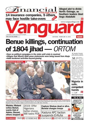 19022018 - Benue killings, continuation of 1804 jihad