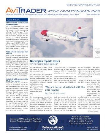 AviTrader Weekly News 2018-02-19