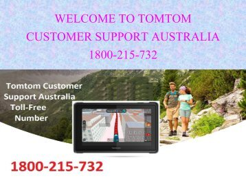 Contact Tomtom GPS Support Number Australia 1800-215-732