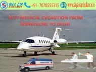 Sky Air Ambulance from Bangalore to Delhi at low fare