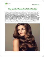 Why You Need Chemical Free Natural Hair Dyes.