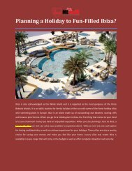 Planning a Holiday to Fun-Filled Ibiza