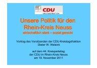 Vortrag Welsink 44. Kreisparteitag - CDU im Rhein-Kreis Neuss