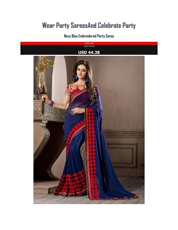 Wear_Party_Sarees_And_Celebrate_Party