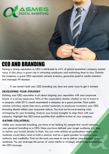 CEO and Branding