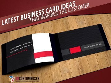 Latest Business Card Ideas That Inspired the Customer