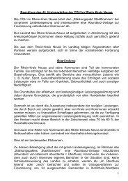 Leitantrag zum 44. Kreisparteitag - CDU im Rhein-Kreis Neuss