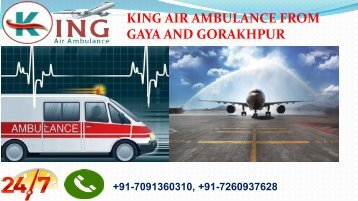 king air ambulance from gaya and gorakhpur