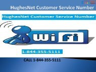 1-844-355-5111 HughesNet Customer Service Number