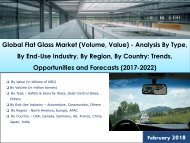 Global Flat Glass Market: Trends, Opportunities and Forecasts (2017-2022)
