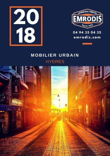 EMRODIS Mobilier urbain Catalogue 2018