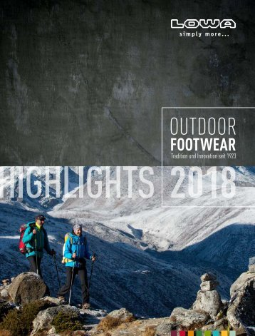 LOWA Outdoor Footwear Highlights Frühjahr/Sommer 2018