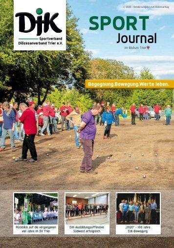 DJK-Sportjournal im Bistum Trier - 1 / 2018 - Sonderausgabe zum Diözesantag