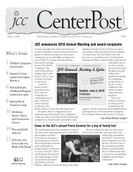 2018 Spring CenterPost  |  JCC of Syracuse