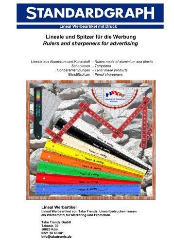 Lineal Werbeartikel bedrucken günstig