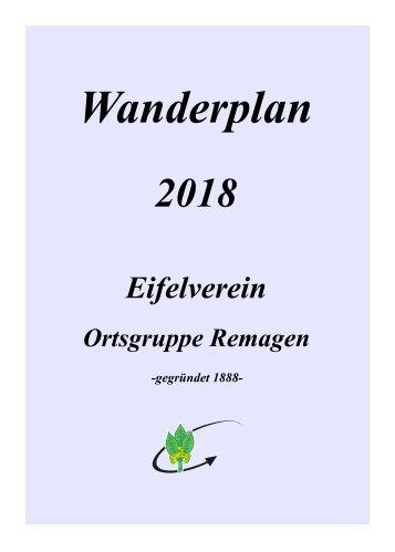 Wanderplan  2018