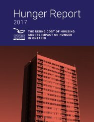 Hunger Report 2017: The Rising Cost of Housing and its Impact on Hunger in Ontario