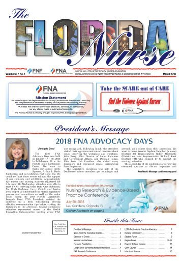 The Florida Nurse - March 2018