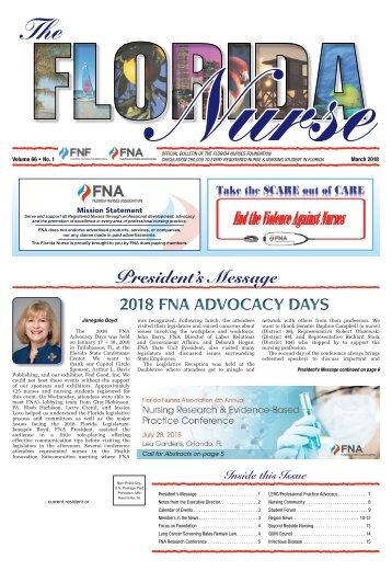 The Florida Nurse - March 2018