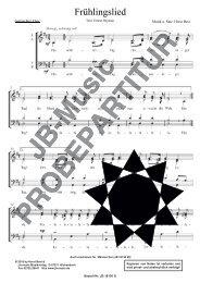 Frühlingslied (für Gemischten Chor SATB)