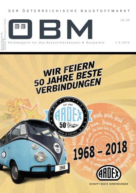 2018-1 OEBM Der Österreichische Baustoffmarkt - ARDEX wir feiern 50 Jahre beste Verbindungen