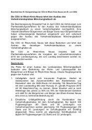 Die CDU im Rhein-Kreis Neuss lehnt den Ausbau des ...