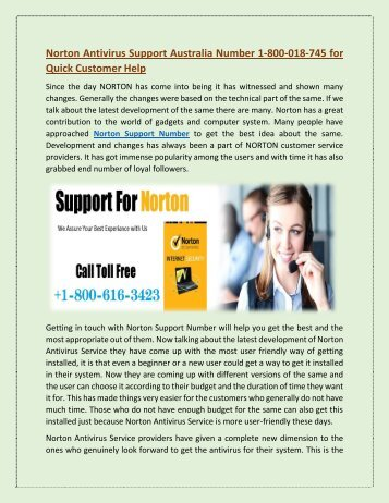 Norton Support Australia Number@ 1-800-018-745 For Quick Customer Help