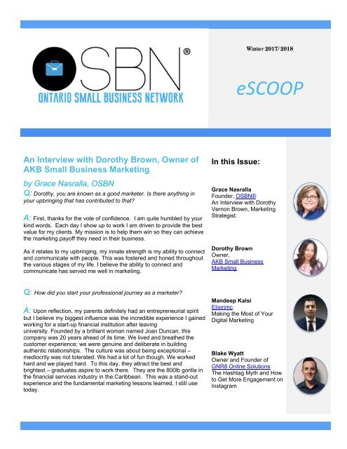 eScoop - issue 6 -  Winter 2017