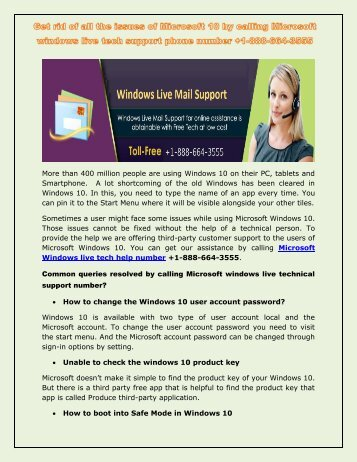 Unable to understand the Windows Live mail errors call +1-888-664-3555 Windows live customer care support number?