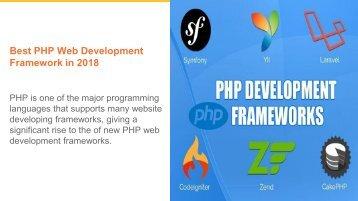 Best PHP Development Framework in 2018