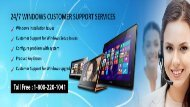 Windows Customer Support Number  Dial 1-800-220-1041