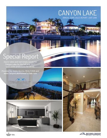 Canyon Lake Annual Home Sales Report 2017-2018