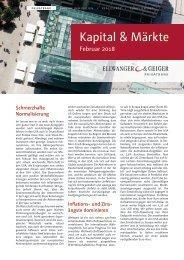 Kapital & Märkte: Ausgabe Februar 2018