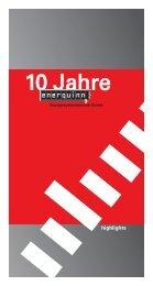 enerquinn Energiesystemtechnik GmbH: Borschüre zum Firmenjubiläum