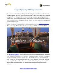 Udaipur Sightseeing with Udaipur Taxi Online
