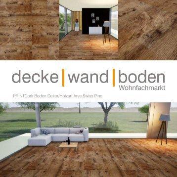dwb Produktinformation PrintCork Boden Arve Swiss Pine