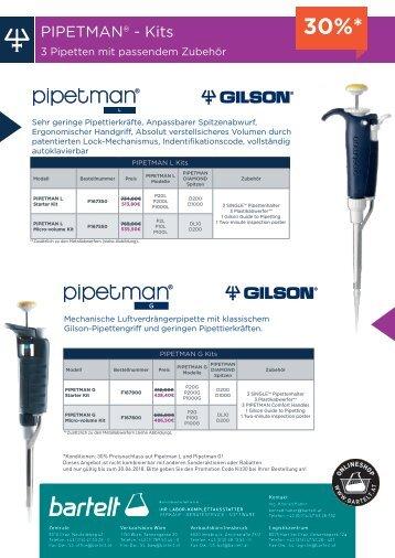 Bartelt GILSON-Aktion Pipetman KIT L & G